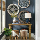 Wooden Heritage Round Wall Hanging Retro Art Ornament Home Room Resturant Decor