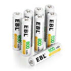 EBL AA AAA Ni-MH Rechargeable Batteries Garden Solar Light LED Battery Pack Lot