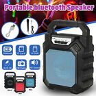 LED Portable Wireless BT Speaker Rechargeable Outdoor Stereo Radio Mic  P