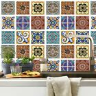 Kitchen Wall Stickers Decal Decoration Home Moroccan Mosaic Self-adhesive