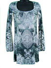 Tunic Dress Long Sleeve All Over Prnt & Jewel Lace Back
