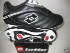 SOCCER CLEATS-LOTTO-AZZURRI TEAM FG -BLACK #K4996