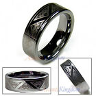 8MM MEN'S TUNGSTEN CARBIDE PATTERN ENGRAVED RING