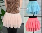 New Cute Chiffon Skirt Mini Skirt  XS ~ 3XL #GF0622