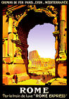 Vintage French POSTER.Stylish Graphics.Rome.Coliseum.Room art Decor.646