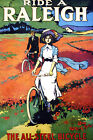 Vintage Bicycle POSTER.Stylish Graphic.Raleigh.Collector Room Art Decor.798