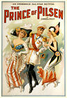 Vintage Theater POSTER.Stylish Graphics.Prince of Pilsen.Wall Decor.1133