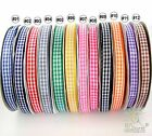 "3/8"" 9mm 10Yards gingham ribbon korker hairbow U pick 12 colors high quality"