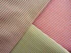 RED/GREY yellow/blue GREEN/PINK tiny GINGHAM LIGHT FABRIC