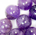 """10mm Natural Purple Amethyst Round Loose Beads 15.5"""""""