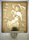 Lithophane Night Light - Kitten & Bows Fine Porcelain