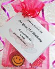 Personalised 18th 21st BIRTHDAY Card/Female Survival Kit Gift / Present for HER