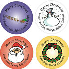 15 x 5cm circular personalised Christmas stickers labels to/from
