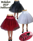 Bubbles Petticoat Rockabilly 50's 2 colours 2 sizes Serious Boof!