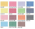 Berisfords Gingham Ribbon 5mm x 3 metres - Choice of colour