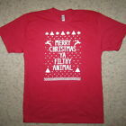 ugly christmas sweater t shirt red green holiday season party favorite contest