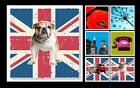 New Canvas Picture 50 x 50 cm, Wall Art Print, Union Jack, New York, Flower B792