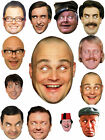 COMEDY CARDBOARD CELEBRITY FACE MASKS CHOOSE FROM 10 COMEDIANS