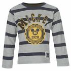 Mickey Mouse grey marl/navy long sleeved t-shirt/top BNWT RRP £12.99