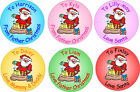 48 Personalised from Santa stickers for xmas presents