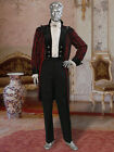 Victorian or Regency Style Frock Coat Handmade from Brocade Damask and Lined