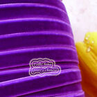 Violet Velvet Ribbons Trim Sewing Craft 6mm,10mm,12mm,15mm,18mm,24mm,38mm #89