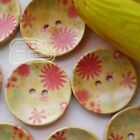 Cosmos 30mm Wood Buttons Sewing Scarpbooking Craft B002