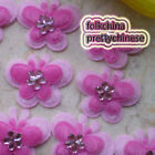 Pink Butterfly Overlay Appliques Padded Craft Sewing Scrapbooking Trim APQJ