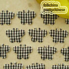 Black Butterfly Gingham Scrapbook Padded Sewing Trim Craft XHBTB