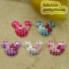 Mixed Cute Mickey Sequin Appliques Padded Craft Sewing Scrapbooking Trim XHCTA