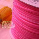 "3mm 1/8"" Hot Pink Velvet Ribbons Craft Sewing Trimming Scrapbooking #11"