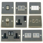 G&H Brushed Steel (aka matt chrome) Dimmer & Light Switches & Plug Sockets