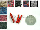 150pc Small Mini 25mm COLOURED Wooden CRAFT PEGS Crafts Card Photo Hanging Clips