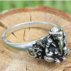 गणेश ॐ Hindi Om Ganesha Elephant Hindu God Silver Pewter Ring Ганеша ガネーシャ گانش