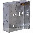 ALL SIZES Electrical Metal Back Boxes Flush for sockets and switches chop in