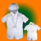 Baby Boy Communion Christening Baptism Outfit Tuxedo Suit size 012345 (0-36M)