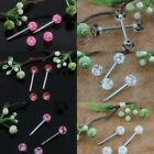 UV Stainless Steel Round Ball Tongue Nipple Bar Ring Barbell Piercing PUNK Gifts