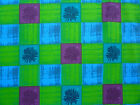 terrace SKOPOS England Designer Lime Purple Teal square Retro Print Heavy fabric