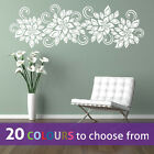 LEAVES FLOWERS SWIRLS floral foliage wall art sticker decal bedroom lounge decor