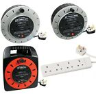 Standard Extension Reels Electrical Power Lead Cable Mains Plug Sockets 240v
