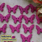 Hot Pink New Butterfly 22mm Wood Buttons Sewing Scrapbooking Craft NCB035