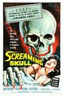 SCREAMING SKULL 01 VINTAGE B-MOVIE REPRODUCTION ART PRINT A4 A3 A2 A1