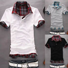Mens Casual Slim Fit Polo Shirt T-shirts Tee Shirt E671 4SIZE 3COLOR