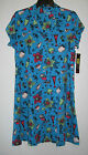 Womens Swimsuit Beach Dress Cover-Up Size S M L Nwt Turquoise Tropical Cocktails