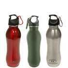 Highlander 750ml Regor Stainless Steel Flask 3 Colours Camping Hiking Bushcraft