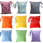 Waterproof Zipper Bag Washable Reusable Cartoon Pattern Baby Cloth Diaper Bag