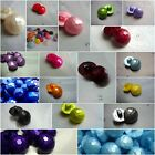 SET OF 15 PEARLED SHAPED HALF BALL SELECTION OF COLOURS BUTTONS 15mm-B226