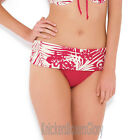 Panache Claudette Folded Bikini Brief/Bottoms Geranium/Ivory SW0657 Select Size