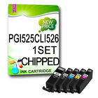 1 Set CHIPPED NON-OEM Ink Cartridges REPLACE for PIXMA Printers