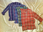 Girls' MUDD Plaid Peasant Style Tops Sizes XS (7/8), M (10/12), L (14), XL (16)